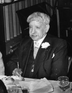 Captain Bill Trowbridge aged 79 in 1965